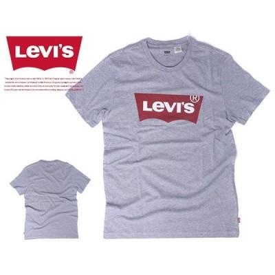 ネコポス対応 リーバイス Tシャツ Levi's プリント ロゴ 半袖Tシャツ バットウイング ハウスマーク リーヴァイス グレー トップス メンズ 17783-0138