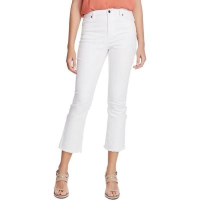 ワンステート 1.STATE レディース ジーンズ・デニム ボトムス・パンツ Raw-Hem Mid-Rise Crop Skinny Jeans Ultra White