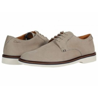 Clarks クラークス メンズ 男性用 シューズ 靴 オックスフォード 紳士靴 通勤靴 Malwood Plain Stone Nubuck【送料無料】