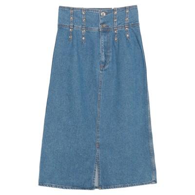 SANDRO デニムスカート ブルー 0 コットン 100% / アルミニウム / ザマック合金 / アクリル / 真鍮/ブラス デニムスカート