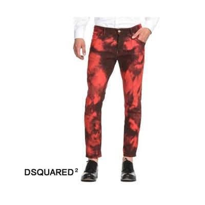 DSQUARED2 ディースクエアード Skater Jeans デニムジーンズ タイダイ染め加工 S74LB0492 レッド スケーター