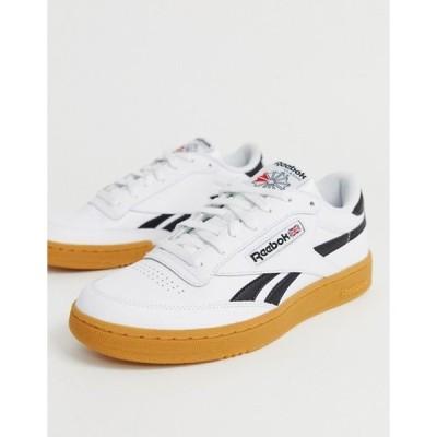 リーボック メンズ スニーカー シューズ Reebok Classics Club C Revenge sneakers in white with gum sole