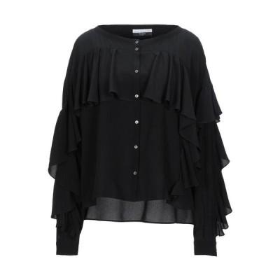 FAITH CONNEXION シルクシャツ&ブラウス ファッション  レディースファッション  トップス  シャツ、ブラウス  長袖 ブラック