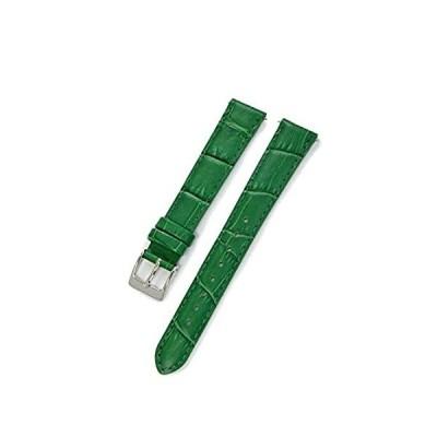 【新品・送料無料】CASSIS[カシス] カーフ 型押し 時計ベルト 裏面防水素材 AVALLON アバロン 14mm グリーン 交換用工具付き X1022238075