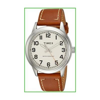 Timex Men's TW2R22700 New England Tan/Cream Leather Strap Watch