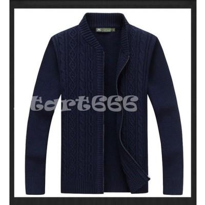 メンズ ニット トップス セーター 大きいサイズ カーディガン ファッション 2020 トレンド 厚手 細身 春 秋冬 カジュアル
