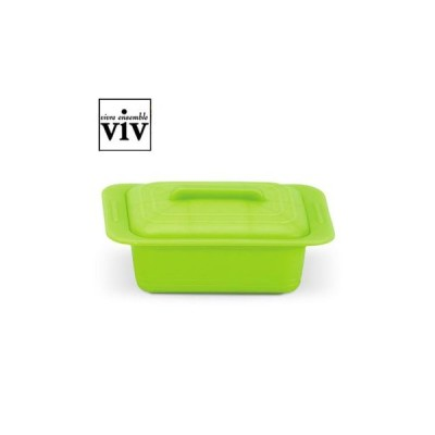 VIV シリコンスチーマー Uno(ウノ) スチームトレイ付 レタスグリーン 59629 AST-K2