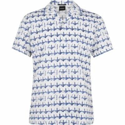 ヒューゴ ボス Boss メンズ シャツ トップス HBO Rhythm AOP Shirt Sn03 Dark Blue
