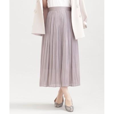 スカート WEB限定/シャイニープリーツスカート
