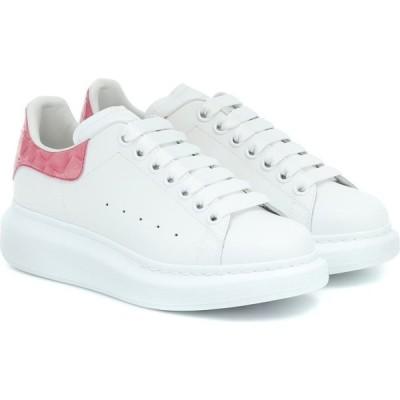 アレキサンダー マックイーン Alexander McQueen レディース スニーカー シューズ・靴 leather sneakers White/Bloom