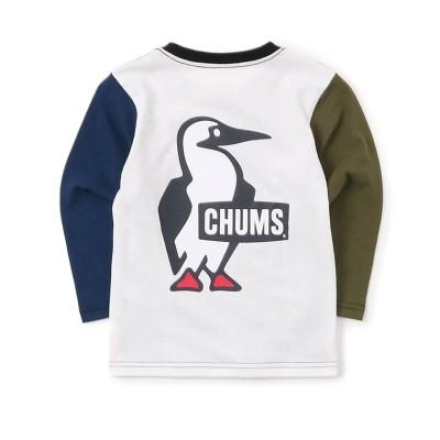 【販売主:スポーツオーソリティ】 チャムス/キッズ/Kid's Booby Logo L/S T-Shirt (キッズ ブービーロゴ L/S Tシャツ) キッズ CRAZY KM SPORTS AUTHORITY