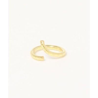 指輪 【V&SSS】くにゃくにゃ 細かい槌目スプリットリング