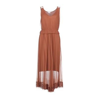 ベルナ BERNA ロングワンピース&ドレス ブラウン M ポリエステル 100% ロングワンピース&ドレス