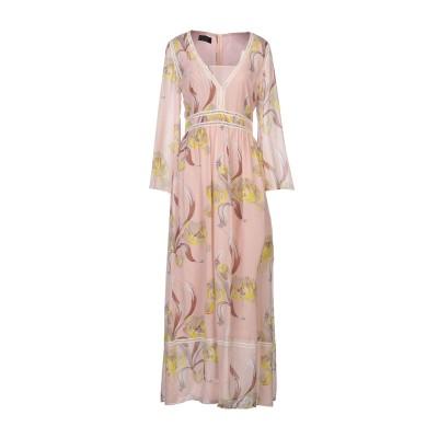 CLIPS ロングワンピース&ドレス ピンク 44 シルク 100% ロングワンピース&ドレス