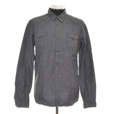 MESSAGERIE メッサジェリエ カジュアルシャツ サイズ39 コットン イタリア製 メンズ グレー