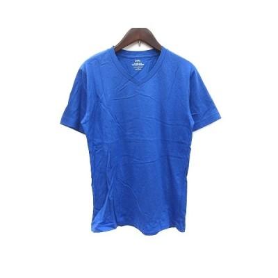 【中古】シップス SHIPS Tシャツ カットソー Vネック 半袖 青 ブルー /CT レディース 【ベクトル 古着】