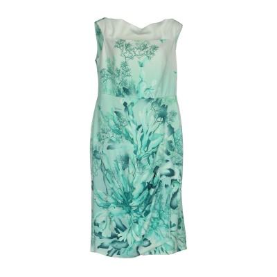 MARIA GRAZIA SEVERI ミニワンピース&ドレス ターコイズブルー 46 96% レーヨン 4% ポリウレタン ミニワンピース&ドレス
