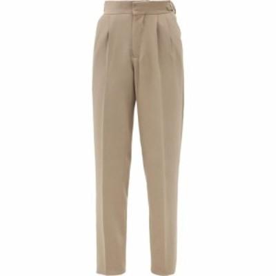 ウミット ベナン ビープラス Umit Benan B+ レディース ボトムス・パンツ High-rise wool-blend trousers Beige