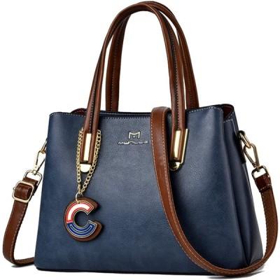レディース ショルダー ショルダーバッグ 女性用バッグ 斜めがけ レディースバッグ ハンドバッグ 女性 カバン プレゼント bag 2way PUレザー(ブルー)