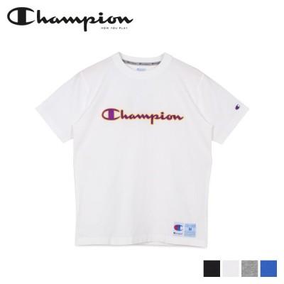 チャンピオン Champion Tシャツ 半袖 メンズ レディース T-SHIRT ブラック ホワイト グレー ブルー 黒 白 C3-Q301