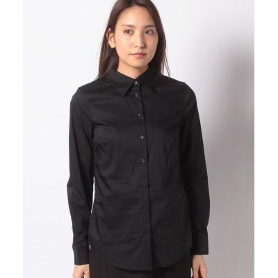 (BENETTON (women)/ベネトン レディース)ストレッチコンパクトシャツ・ブラウス/レディース ブラック
