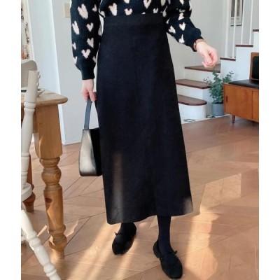 monodaily レディース スカート Pale Suede Skirt