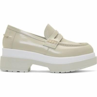 メゾン マルジェラ MM6 Maison Margiela レディース ローファー・オックスフォード シューズ・靴 green and white platform loafers Gree
