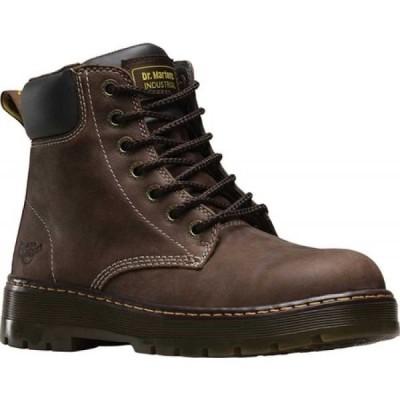 ドクターマーチン Dr. Martens Work メンズ ブーツ シューズ・靴 Winch 7 Eye Soft Toe Boot Dark Brown Wyoming Oiled Leather