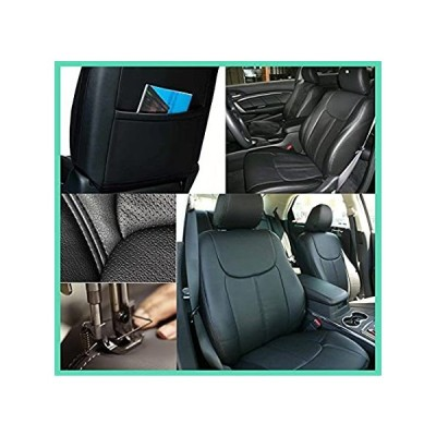 ZMAUTOPARTS CLAZZIO CUSTOM MADE-TO-FIT PVC SEAT COVERS BLACK SET Compatible