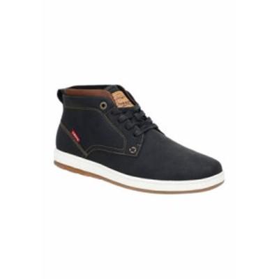 リーバイス メンズ スニーカー シューズ Ace Waxed UL Sneakers BLACK/TAN