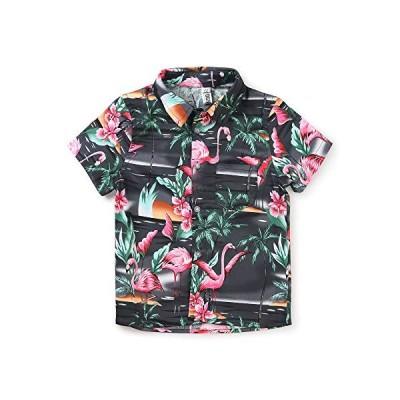 Phorecys シャツ ボーイズ 半袖 子供服 Yシャツ カジュアル キッズ 旅行 遊園 祭り 可愛い柄 大きいサイズ ワイシ