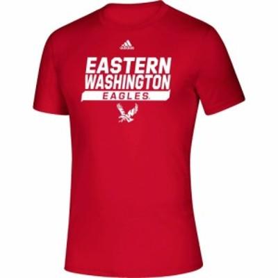 アディダス adidas メンズ Tシャツ トップス Eastern Washington Eagles Creator Red T-Shirt