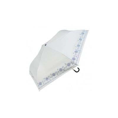 Fair mode 晴雨兼用 折りたたみ傘 50cm mini あじさい SMM-2026 ホワイト