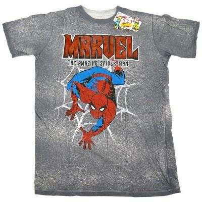 SAF マーベル コミックス ザ・アメイジング・スパイダーマン Tシャツ グレー 11TA-487