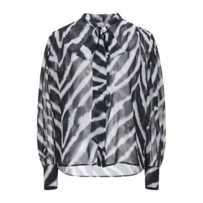 MARCO BOLOGNA リボン付きシャツ&ブラウス ファッション  レディースファッション  トップス  シャツ、ブラウス  長袖 ブラック
