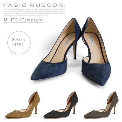 『Fabio Rusconi-ファビオルスコーニ-』MILITO Camoscio [レディース パンプス スウェード]