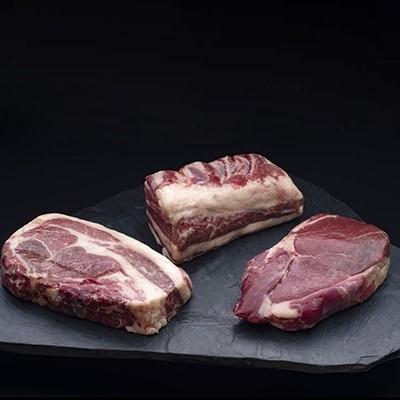 釧路産馬肉ブロックセット(ロース・赤・バラ肉)各300g[Ta501-Q077]