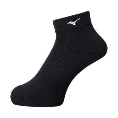 ミズノ(MIZUNO) メンズ レディース バレーボール ショートソックス ブラック×ホワイト V2MX8001 90 靴下 ウェア トレーニング 部活 スポーツ