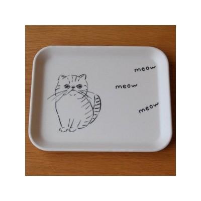 山鳩舎 皿 プチトレー 小物トレー 四角 ネコ