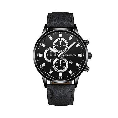 MOSTFA Mens Classic Watch Men Busine Luxury Sports Watch PU Leather Busine Quartz Analog Mens Watches【並行輸入品】