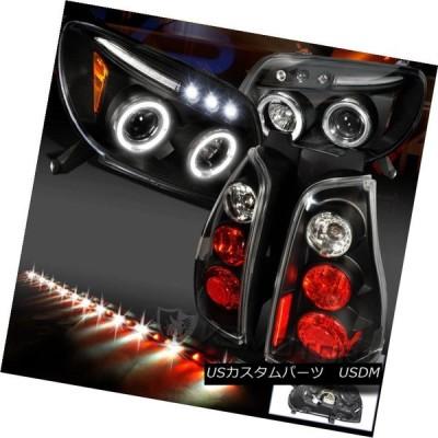 ヘッドライト 03-05用4Runner Haloブラックプロジェクターヘッドライト+テールライト+ 49インチゲートライトバー For 03-05