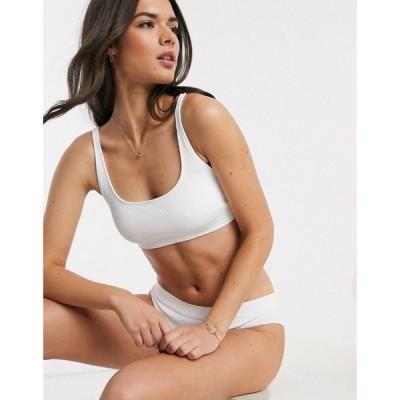 ウィークデイ Weekday レディース ブラジャーのみ インナー・下着 Cat soft bra in white ホワイト