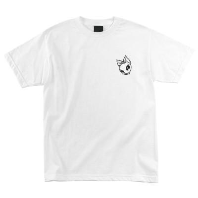 オージェーウィール 半袖 Tシャツ ホワイト メンズ レディース スケート OJ WHEELS LEAF WHEEL S/S T-SHIRTS WHITE