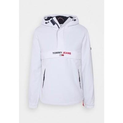 トミージーンズ メンズ ファッション SOLID POPOVER JACKET UNISEX - Windbreaker - white