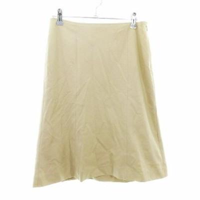 【中古】プロポーション ボディドレッシング PROPORTION BODY DRESSING スカート フレア ひざ丈 無地 4 ベージュ