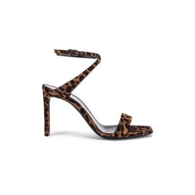 イヴ サンローラン Saint Laurent レディース サンダル・ミュール シューズ・靴 Leopard Bea Bow Ankle Strap Sandals Manto Naturale Caffe