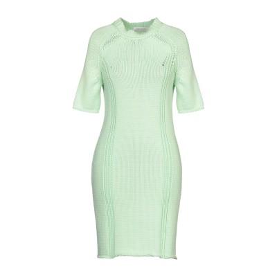 セドリック シャルリエ CEDRIC CHARLIER ミニワンピース&ドレス ライトグリーン 40 コットン 100% ミニワンピース&ドレス