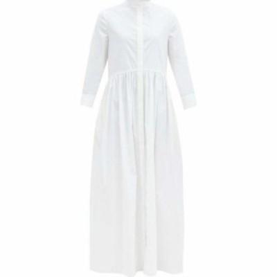 ブロック コレクション Brock Collection レディース ワンピース シャツワンピース ワンピース・ドレス Gathered cotton-blend shirtdres
