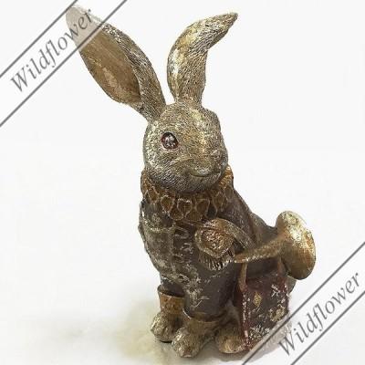 TRラビット・SIT ウサギ オーナメント  置物 オブジェ/猫雑貨 ウサギ雑貨,かわいい雑貨のワイルドフラワー