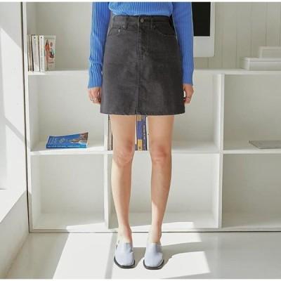 common unique レディース スカート Basic A-Line Denim Skirt